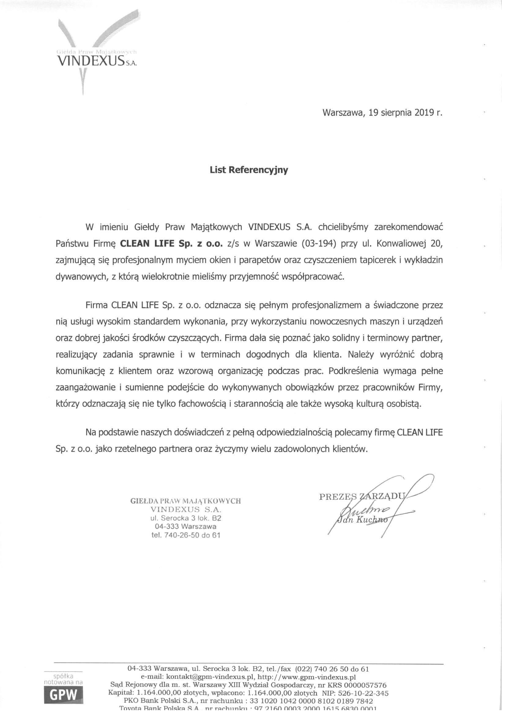 Giełda Praw Majątkowych Vindexus S.A.